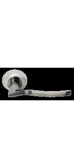 Дверная ручка DIY MH-04 SN/BN белый никель/черный никель