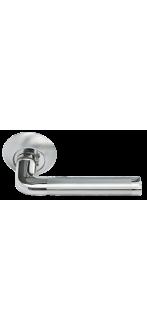 Дверная ручка  MH-03 SN/CP белый никель/полированный хром