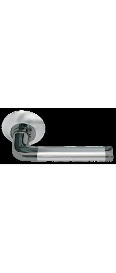 Дверная ручка  DIY MH-03 SN/BN  белый никель/черный никель