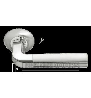 Дверная ручка MH-11 SN/CP белый никель/полированный хром