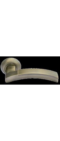 Дверная ручка MH-12 MAB/AB матовая античная бронза/античная бронза