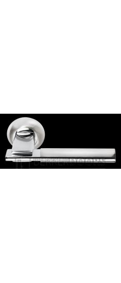 Дверная ручка MH-13 SN/CP белый никель/полированный хром