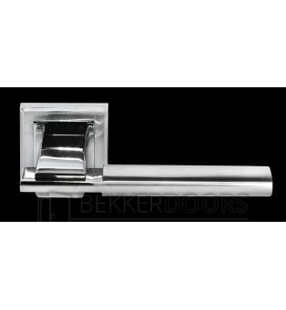 Дверная ручка DIY MH-13 SC/CP-S матовый хром/полированный хром