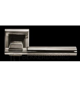 Дверная ручка DIY MH-13 SN/BN-S белый никель/черный никель