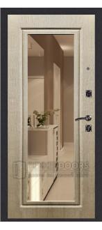Дверь ДМ Атлант Зеркало Венге светлый (Внутренняя)
