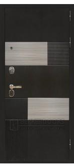 Дверь ДМ Вена Венге тисненый /Сандал серый (Внешняя)