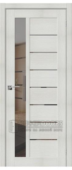 Дверь ЭКО Порта-27 Bianco Veralinga Mirox Grey