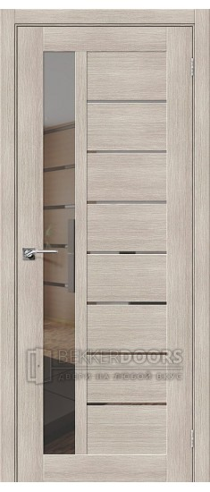 Дверь ЭКО Порта-27 Cappuccino Veralinga Mirox Grey
