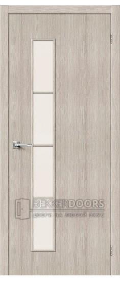 Дверь Браво Тренд-4 3D Cappuccino СТ-Magic Fog