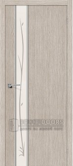 Дверь Браво Глейс-1 Twig 3D Cappuccino