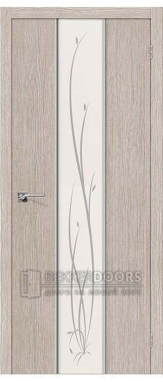 Дверь Браво Глейс-2 Twig 3D Cappuccino