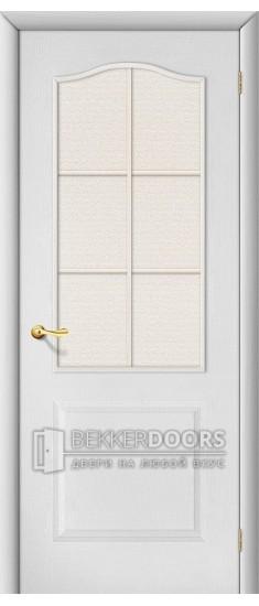 Дверь Браво Палитра Л-23 (Белый) ПО СТ-Хрусталик