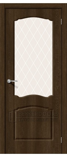 Дверь Альфа-2 ПО Dark Barnwood White Сrystal
