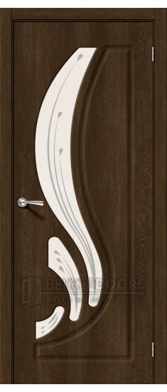 Дверь Лотос-2 ПО Dark Barnwood Art Glass