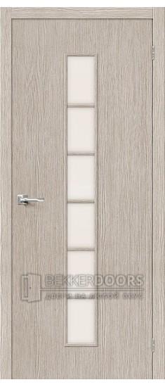 Дверь Браво Тренд-12 3D Cappuccino СТ-Magic Fog
