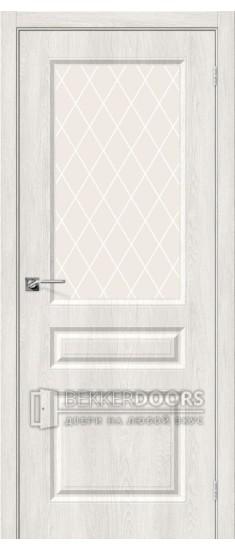 Дверь Скинни-15 Casablanca White Сrystal