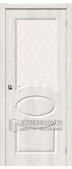 Дверь Скинни-21 Casablanca White Сrystal
