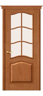 Дверь Браво М7 Т-05 (Светлый Лак) ПО СТ-Сатинато