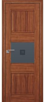 Дверь ПО 5X  Амари Стекло Узор графит с прозрачным фьюзингом