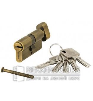 Цилиндр ключ с фиксатором бронза