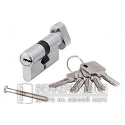 Цилиндр ключ с фиксатором хром