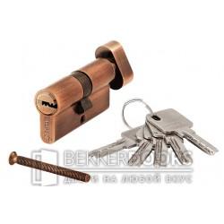 Цилиндр ключ с фиксатором медь