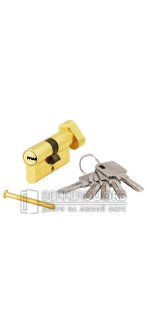 Цилиндр ключ с фиксатором золото