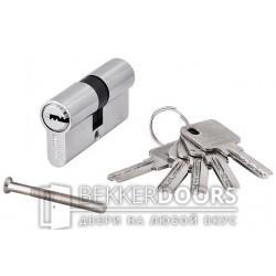 Цилиндр ключ-ключ хром