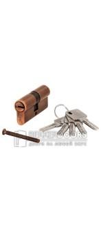 Цилиндр ключ-ключ медь